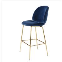 欧式创意高凳 北欧甲壳虫靠背吧台椅酒吧个性创意高脚吧台凳简约休闲咖啡厅椅子