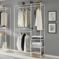 室内晾衣架卧室实木 简易衣架柜卧室家用简约衣帽架挂衣架现代挂衣柜