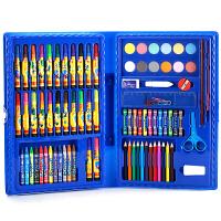 特价86件迪士尼小学生 儿童画笔水彩笔绘画工具礼盒套装文具 86水彩笔蓝色(老款)