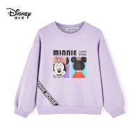 【抢购价:78元】迪士尼米奇米妮女童套头卫衣21年春中小童