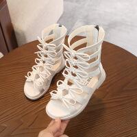 儿童鞋年夏季休闲高帮软底露趾女童凉鞋