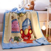 儿童婴儿毛毯双层加厚宝宝盖毯新生儿小毯子秋冬季双面珊瑚绒毯子y