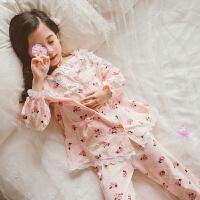 儿童睡衣女童长袖春装公主家居服套装