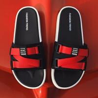 凉拖鞋男士夏季时尚外穿新款潮流情侣个性防滑韩版沙滩鞋网红凉