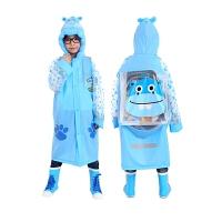学生宝宝雨披充气帽檐儿童雨衣男女童儿童雨披书包位雨衣