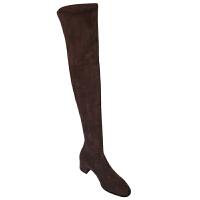 SW瘦瘦长靴女2019秋冬季新款小辣椒高筒弹力长靴粗跟中跟过膝长靴