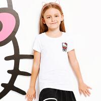 【3折价35.7】安踏童装 舒适透气短袖T恤中大童女童装36828182