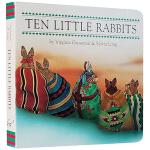 英文原版绘本0 3岁 Ten Little Rabbits 纸板书 儿童启蒙故事 西尔维娅隆 Sylvia Long
