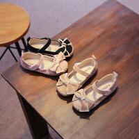 女童鞋子蝴蝶结童鞋儿童单鞋甜美女童单鞋