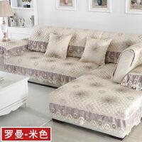 欧式亚麻提花沙发垫布艺防滑皮沙发坐垫子现代简约定做沙发巾罩套定制