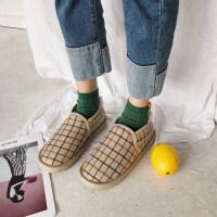 雪地靴女2018新款冬韩版高中学生棉鞋豆豆鞋加绒毛毛鞋短靴