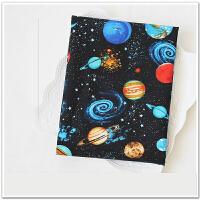 1米 星系小宇宙印花棉布料 舞台服装面料 手工DIY印染布料s 一米价 宽度110厘米固定的