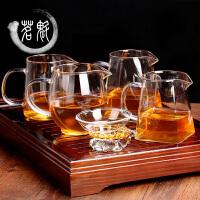 玻璃公道杯茶漏套装大号茶海分茶器功夫茶具配件过滤公杯