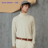 GXG x BLUE ERDOS�名款冬季新品�p色高�I保暖打底羊�q羊毛衫毛衣