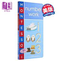 【中商原版】Montessori: Number Work 蒙特梭利初识:数字 低幼亲子互动数字启蒙绘本 纸板书 英文原
