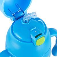 吸管杯不锈钢儿童保温杯便携女水杯瓶小学生水壶直身双把手
