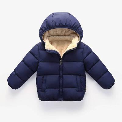 2018冬季宝宝加厚羊羔绒棉袄儿童棉衣男女羽绒服婴儿外套