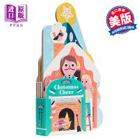 【中商原版】Bookscape Board Books: Christmas Cheer 异形书:圣诞节 低幼亲子启蒙异