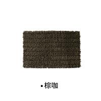 雪尼尔吸水地垫门垫脚垫卧室卫生间浴室厨房门口垫q 棕咖 400mmx600mm