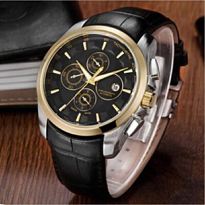 手表男士皮带石英表男表 韩版时尚潮流学生表防水皮带腕表