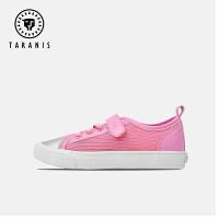 泰兰尼斯童鞋男女休闲鞋儿童春秋季软底小白鞋板鞋