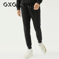 GXG男装 秋季男士时尚青年韩版潮流黑色针织长裤休闲裤男