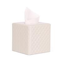 铆点格子皮革木质纸巾盒 欧式客厅办公桌面抽纸盒 卫生间座式卷纸盒创意时尚卷纸筒抖音
