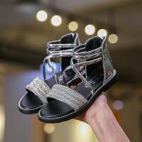 女童凉鞋公主鞋子平底沙滩鞋夏季儿童罗马鞋1-3岁