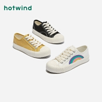热风女士帆布鞋女 韩版百搭休闲鞋H14W0118