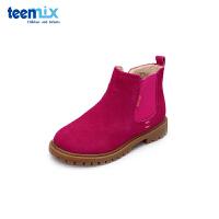 【159元任选2双】天美意teenmix童鞋18新款儿童靴子男女童时尚短靴(5-12岁可选)DX0265