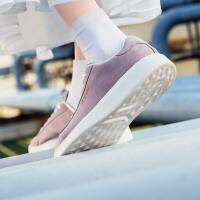 【限时直降】特步女鞋板鞋春季新品时尚休闲鞋潮流简约革面舒适厚底运动鞋881118319231