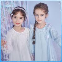 【4折�A估�r:101.3元】迪士尼女童�L袖T恤冰雪奇�童�b�凵�公主花��I洋��和�����上衣