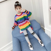 儿童套装 女童秋季套装2020新款韩版时尚童装女孩儿童中大童时髦洋气运动两件套