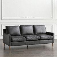 欧式简易沙发 北欧办公沙发茶几组合美式真皮沙发接待会客商务办公室沙发
