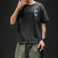 短袖男纯棉圆领T恤宽松百搭男士衣服半袖大码潮牌潮流体恤男装VZTX19013