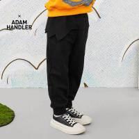 【秒杀价:140元】马拉丁童装男大童裤子春装2020年新款针织裤宽松百搭黑色裤子