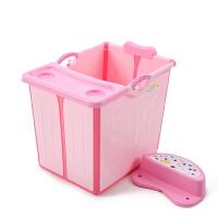 婴儿游泳池宝宝泡澡浴桶可坐躺折叠家用大号浴盆儿童洗澡桶