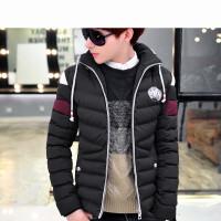 韩版修身新款时尚舒适 男士棉衣 学生纯色外套