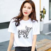 新品韩版宽松百搭夏装短袖T恤棉半袖女装上衣小衫新品