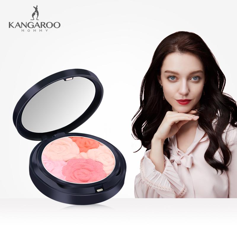 袋鼠妈妈 花漾立体感孕妇腮红孕妇专用自然彩妆裸妆修容孕期化妆品正品 美丽妈妈 健康宝宝