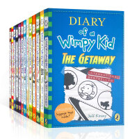 进口现货 Diary of a Wimpy Kid 小屁孩日记英文原版1-13本套装 Jeff Kinney杰夫・凯尼
