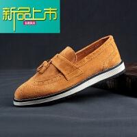 新品上市秋季豆豆鞋男鞋真皮磨砂休闲鞋皮鞋英伦鞋懒人一脚蹬潮鞋