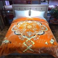 加厚拉舍尔毛毯婚庆大红喜被双层891011斤冬季双人云毯y 明黄色 爱马仕 8斤