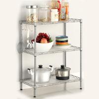 空大厨房置物架3层金属调味料架厨具收纳用品架壁挂落地层架40*25*45