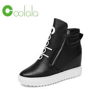 红蜻蜓旗下品牌COOLALA女鞋秋冬休闲鞋板鞋女鞋子高帮鞋HNB6740