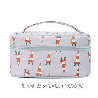 化妆包女大容量便携韩国化妆袋简约化妆品收纳包盒小号化妆箱手提