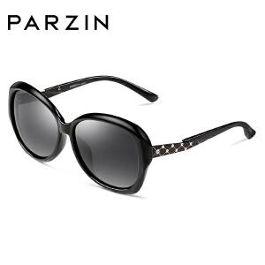帕森太阳镜女 优雅时尚偏光镜 轻盈TR90开车潮墨镜驾驶镜9809