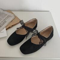 奶奶鞋女2019春新款韩版平底百搭方头浅口学生单鞋ins超火的鞋子