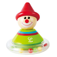 Hape小丑不倒翁0岁以上儿童玩具宝宝益智启蒙玩具婴幼玩具摇铃床铃安抚E0015