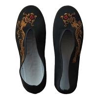儿童布鞋幼儿表演搭配复古民族风舞蹈演出鞋子古风绣花鞋汉服配饰